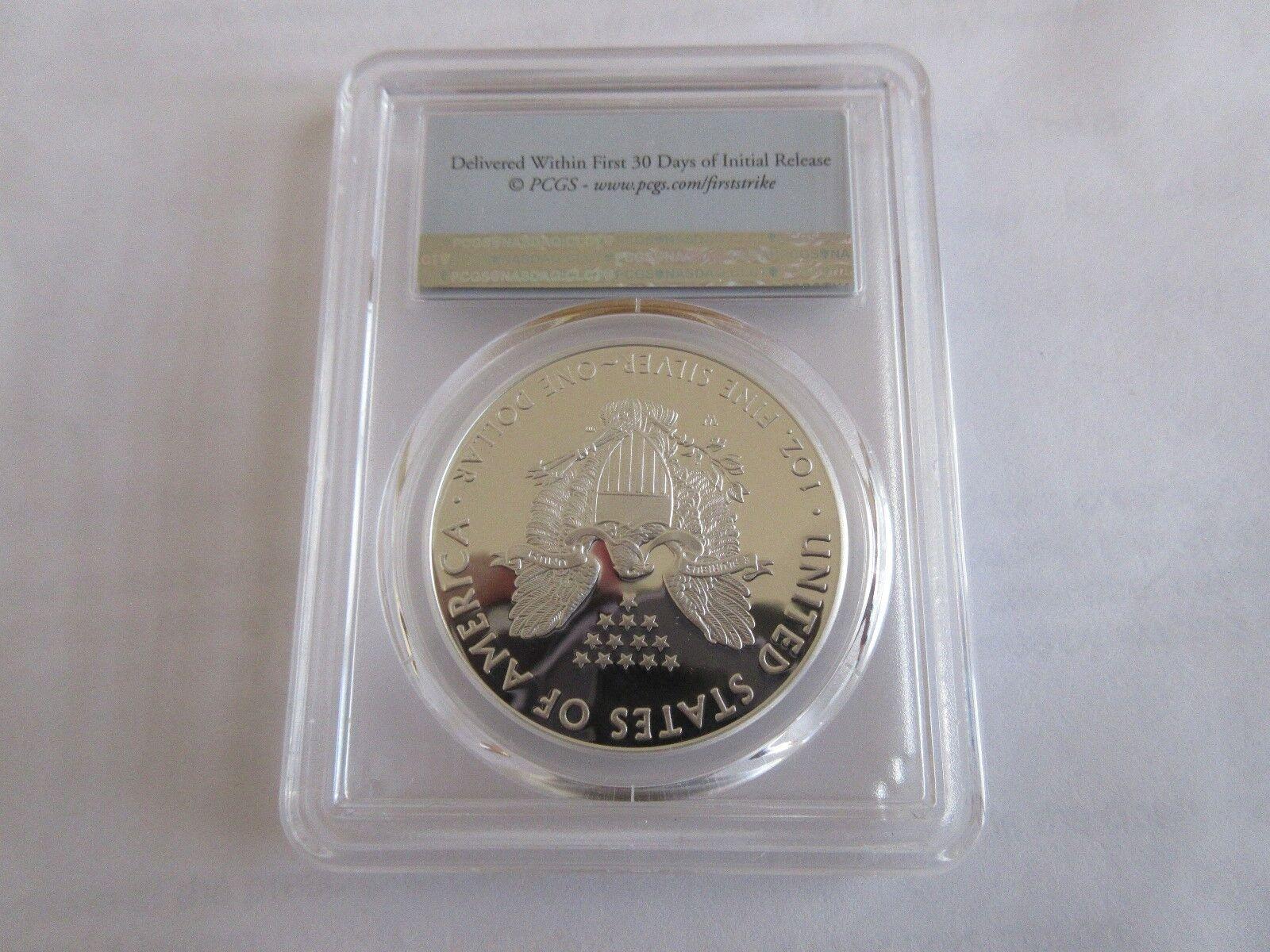 2016-W Silver Eagle $1 PCGS PR70DCAM 30th Anniversary L