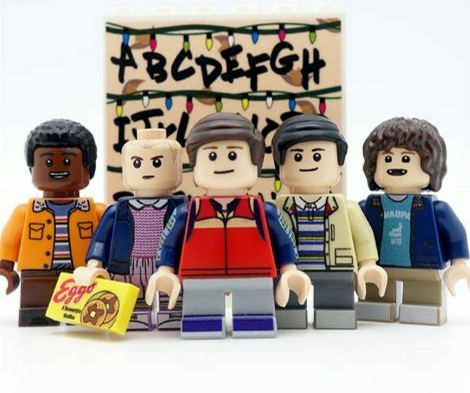 Extraño las cosas Personalizado Mini Figuras 5 PC Set  Dustin once Lucas Mike se