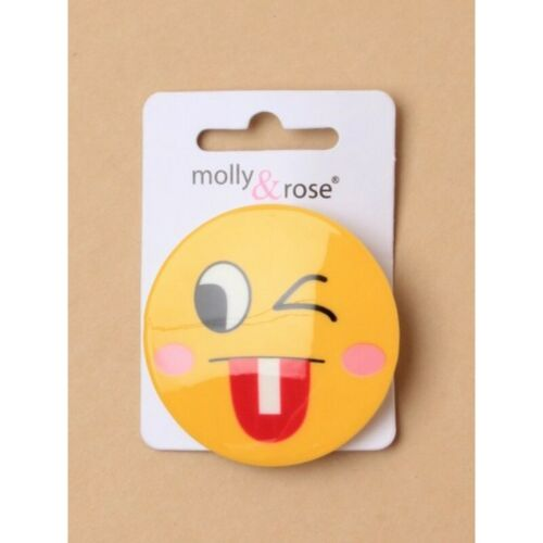 4.5CM EMOJI HAIR CLIPS HEARTS SMILEY SUNGLASSES WINK LAUGHING choice