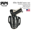 thumbnail 2 - SHADO Leather Holster USA Elite Model (19115-110) Right Hand Black OWB TB 1911