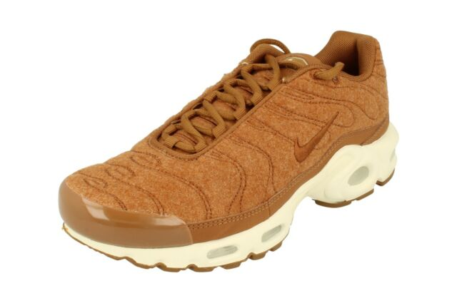reputable site 795b2 80e83 Nike Air Max Plus Quilted Mens 806262-200 Ale Brown Sail Running Shoes Size  9