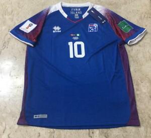 52cb81d2425 Image is loading Rare-Jersey-Errea-Iceland-Match-Worn-World-Cup-