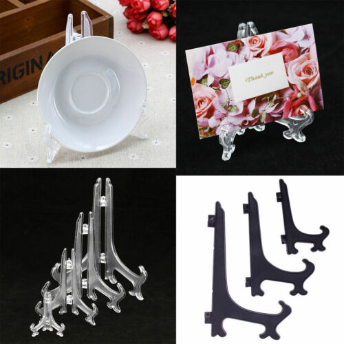 5Pc Picture Frame Display Easel Display Stand Plate Holders Plastic Photo Holder
