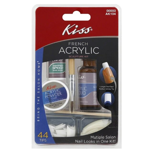 Kiss French Acrylic Sculpture Kit Longer Nail Bed White Tip 00003 ...