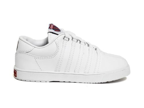 K-Swiss Infant /& Toddler/'s CLASSIC LEATHER LOW Shoes White 20100 a2