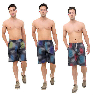 Gewissenhaft Mens Quick Dry Swimming Shorts Printed Mesh Lined Beach Summer Swimwear New