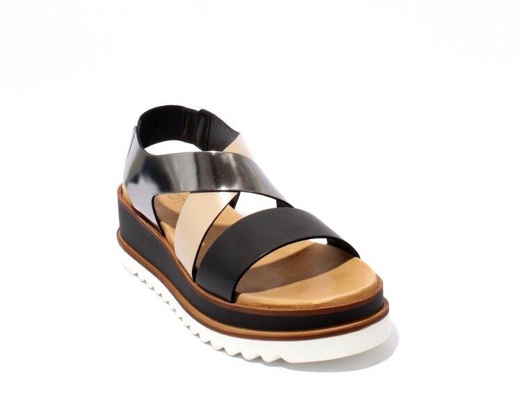 Mot-CLe 824 Multi-Color De Cuero Sandalias De Tiras Zapatos Cuña 39 US 9