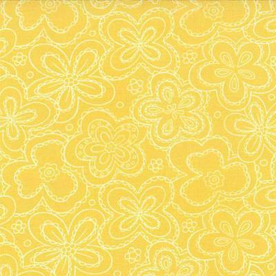 Chance of Flowers Priced Per ½ Yard 17769-15 Lace Flowers Yellow Sandy Gervias