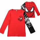 Kids Boys Spiderman T-Shirt Tops Hoodies Coat Shorts Pants Toddler Outfits Set