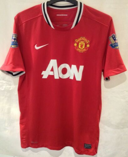 Manchester United 20112012 Home Shirt 1011 Champions Arm Patches Size L