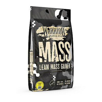Warrior Mass Gainer 5kg Lean Muscle Weight Gain 3 Stage Protein Powder Shake