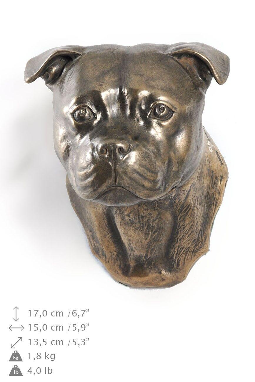 Staffordshire Bull Terrier - statua del cane per appendere al muro, Art Dog IT