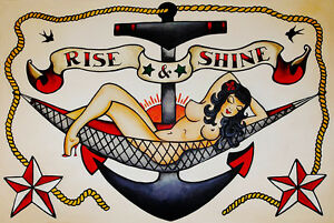 Sailor-Jerry-poster-Tattoo-Vintage-rise-shine