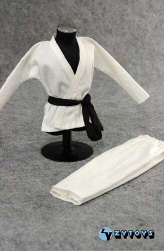 ❶ ❶ échelle 1//6 Judo Gi Blanc Vêtements Bruce Lee Kung Fu costume navire de U S ❶ ❶