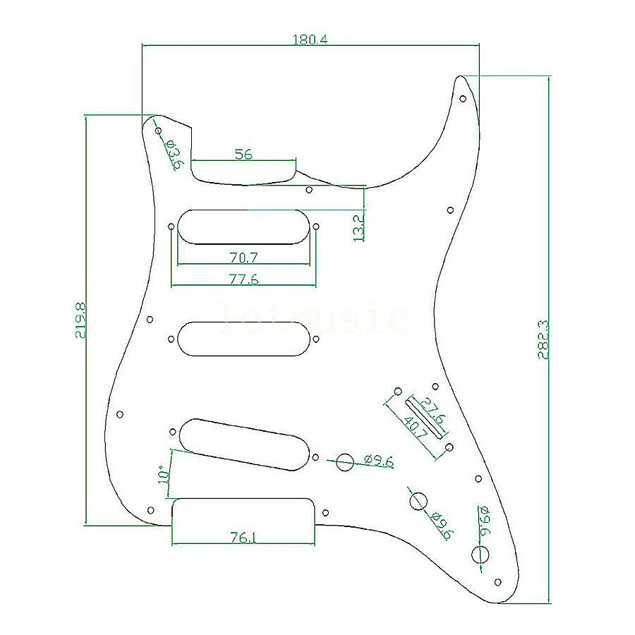 red shell pickguard scratch plate for fender strat st