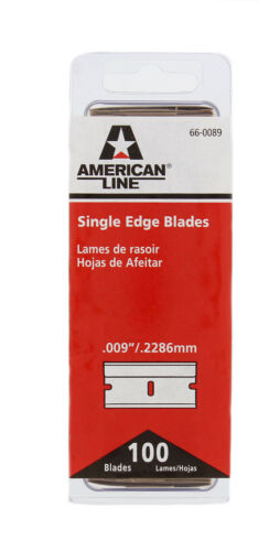 100 No 9 Single Edge Razor Blades