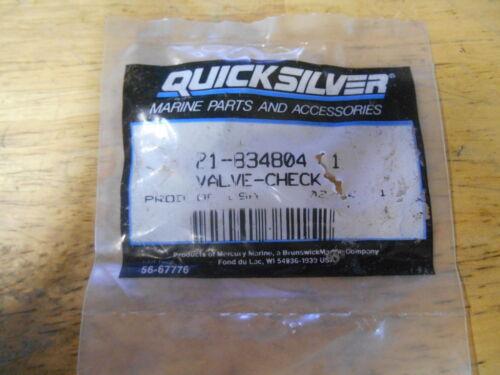 NEW NOS Mercury Quicksilver Marine Check Valve Part # 21-834804