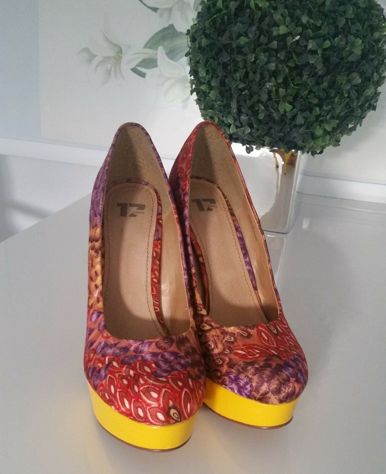 Sexy Damen High Heels - Pumps - Görtz 17 - Gr. 41 - mehrfarbig