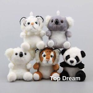 Simulated-Animal-Panda-Koala-Tiger-Plush-Toy-Stuffed-Animal-Doll-5-039-039-Keychain