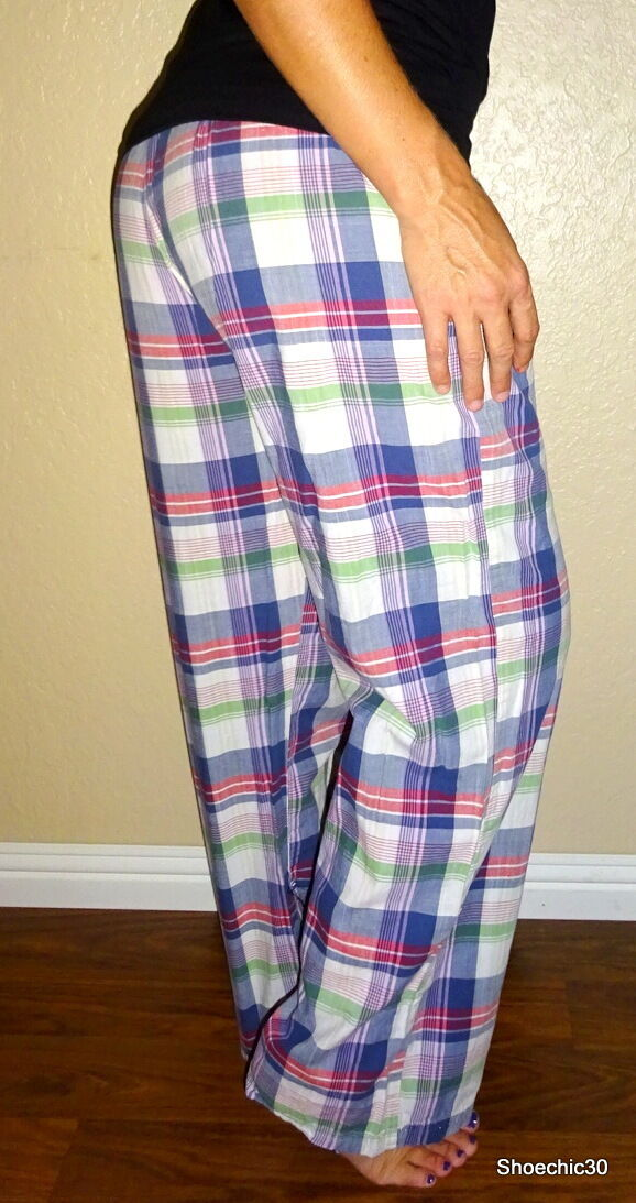 Aeropostale   AERIE womens glitter plaid lounge sleep intimates pants S   Small