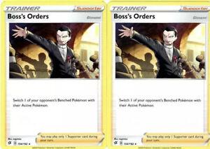 2x-Pokemon-Trainer-Card-Set-Boss-039-s-Orders-154-192-Rebel-Clash-Non-Holo-Cards