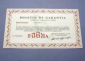 FäHig New Old Stock Dogma Garantie Zu Gewährleisten Card Paper 50/60s Blank Nos Gree Uhren & Schmuck Zubehör