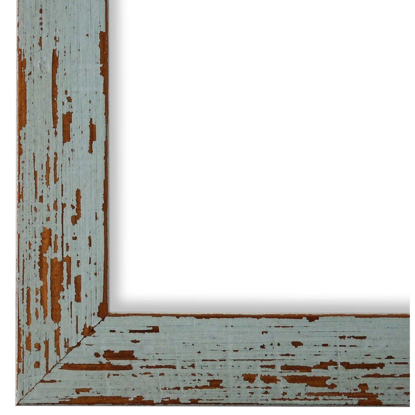 Bilderrahmen Türkis Antik Vintage Holz Cremona 3,0 - 40x60 50x50 50x60 60x60