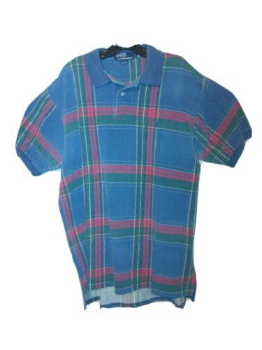 Vintage Polo Shirt Men's Size XL Classic Plaid 19… - image 1