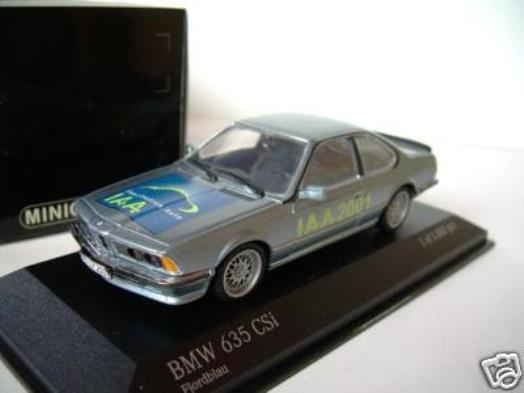 Seltene minichamps bmw 635 csi iaa frankfurt motor show 2001 1 43 promo - modell