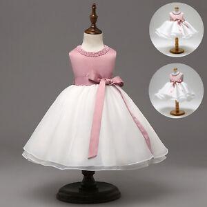 Flower Girl Princess Dress Baby Baptism Christening Gown Wedding Beading Dresses