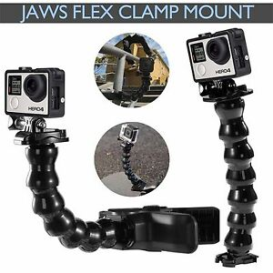 Jaws-Flex-Clamp-Mount-Clip-Neck-Gopro-Hero-5-4-3-Go-Pro-Adjustable-Accessories
