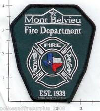 Texas - Mont Belvieu TX Fire Dept Patch - Fire - Rescue - Haz Mat