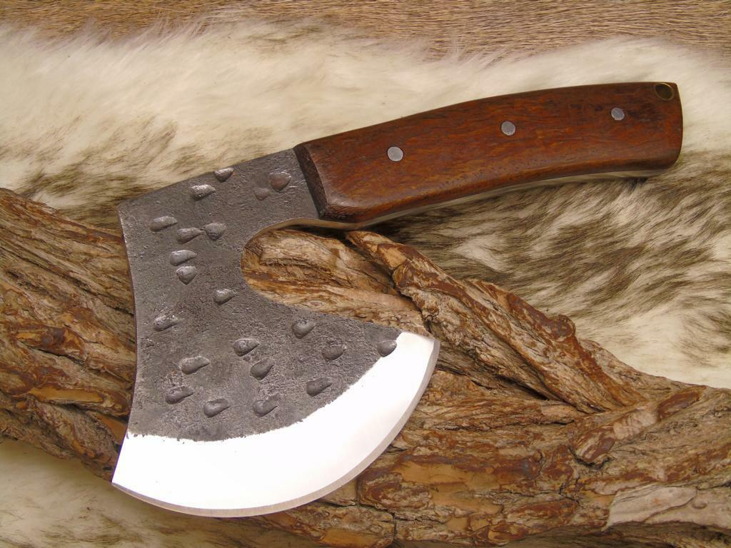 AXE High Carbon Steel with Real Leather Sheath Hand Forged Viking 4228 10