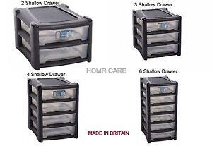 Wham Plastic Shallow A4 Drawer Storage Unit Cabinet