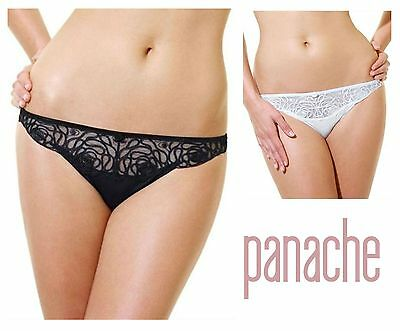 Panache Women/'s Harmony Embroidered Thong 4039