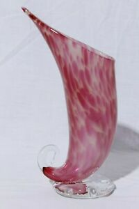 Hand-Blown-Art-Glass-Pitcher-Plant-Vase-Artist-Signed