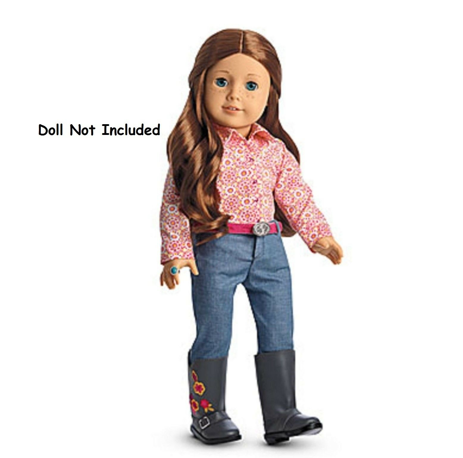 American Girl Saige Parade Completo Pennino Western Cintura Stivali Jeans No