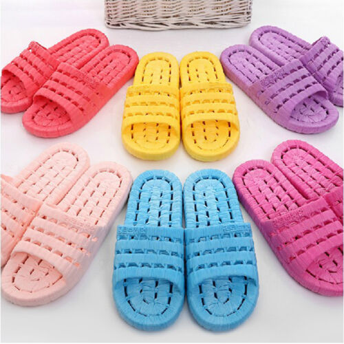 Women Ladies Bathroom Slippers Antiskid Couples Cool Shower Slippers Sandals