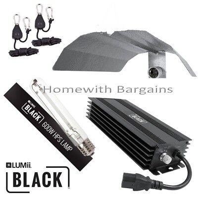600w Lumii Black Dimmable Digital Ballast Grow Light Kit