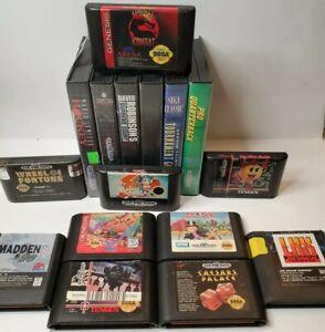 Sega-Genesis-Video-Game-Lot-Of-16-Untested-As-Is-Sonic-Mortal-Kombat
