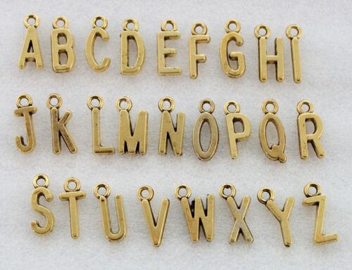 26 letra del alfabeto Encantos Colgante Accesorios Fabricación de Joyas PJ574 Set a-Z