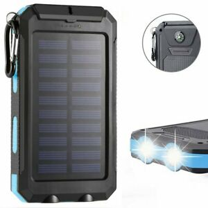 2020 - Solar Charge Power Bank 10000mAh Portable Battery Pack Cellphone Charger