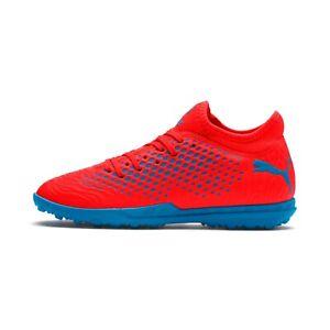 Details about Puma Men's FUTURE 19.4 TT Soccer Shoes Red Blast Bleu Azur 105548 01 d