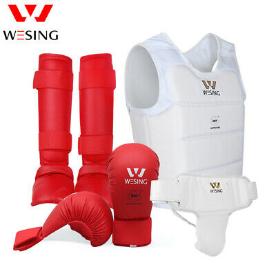 Wesing karate chest protector women with gloves WKF body equipments sets