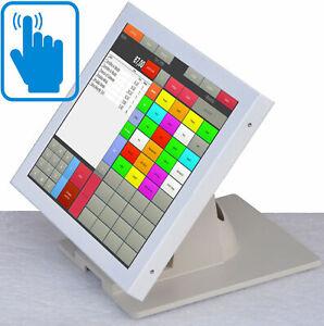 """38cm 15"""" Usb Touchscreen Monitor Canvys Vt-568mt Standfuss Evtl Wandhalterung 11"""