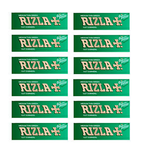 600-RIZLA-GREEN-ROLLING-PAPERS-MADE-IN-BELGIUM-ORIGINAL-12-BOOKLETS