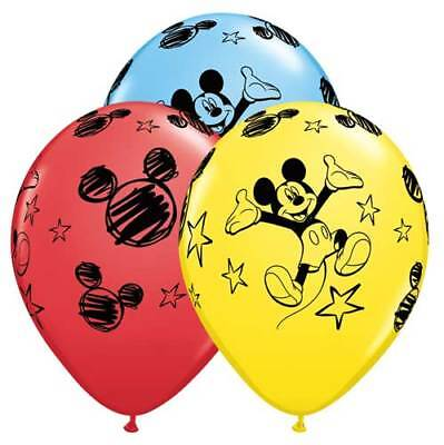 ON SALE 12 piece Red Yellow and Black balloons Mickey Minnie mouse colors Qualatex 11  latex Balloon kids birthday party decor s