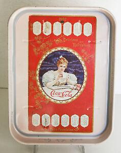 Calendario 1900.Dettagli Su Vassoio Coca Cola Calendario 1900 Riproduzione Bar Pubblicitario Vintage