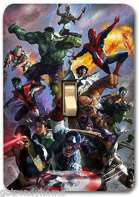 Marvel Comic Design American Hero Metal Light Switch Plate