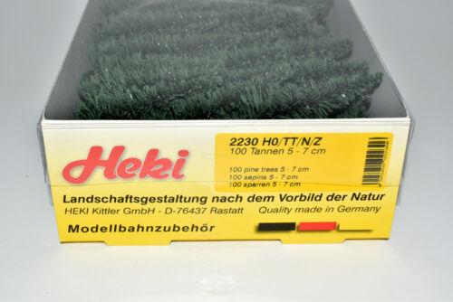 Neu in OVP Großpackung HEKI H0 2230 100 Stück Stecktannen Tannen Set im Karton
